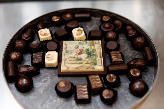 God van de schilders in puurste vorm bij 'nJoy Chocolate. Foto: Aad Hoogendoorn