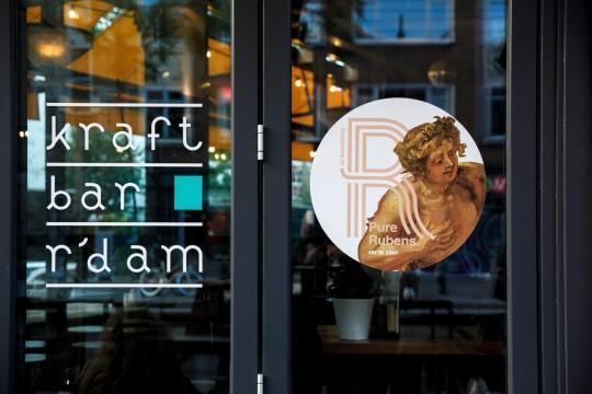 Rubens op de tap bij o.a. Belgisch café Boudewijn en Kraftbar Rotterdam. Foto: Aad Hoogendoorn