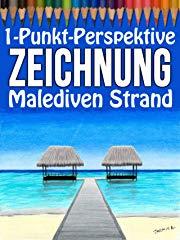 1-Punkt-Perspektive Zeichnung: Malediven Strand Stream
