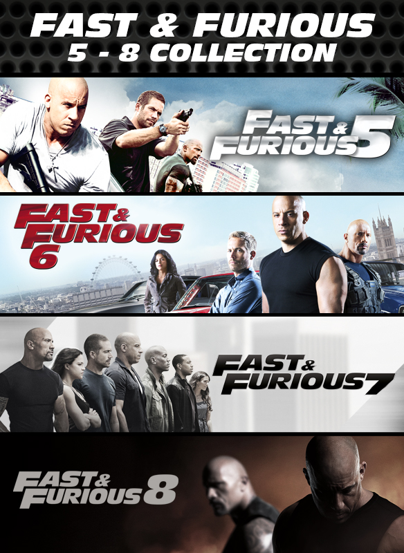 Fast & Furious: 5 - 8 Collection stream