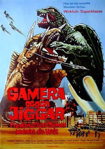 Gamera gegen Jiggar - Frankensteins Dämon bedroht die Welt stream