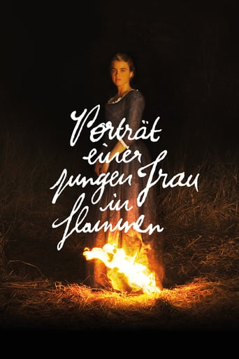 Porträt einer jungen Frau in Flammen stream