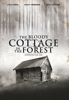 The bloody cottage in the forest stream
