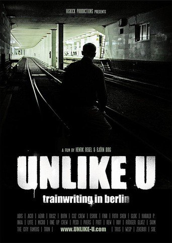 Unlike U - trainwriting in berlin stream