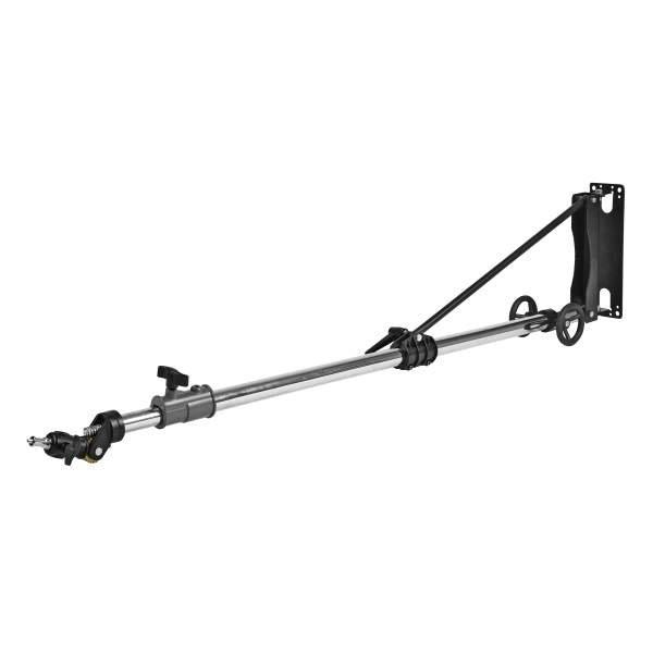 walimex pro Wand-Lampenstativ Heavy Duty Deluxe mit Kurbel, 136-220cm