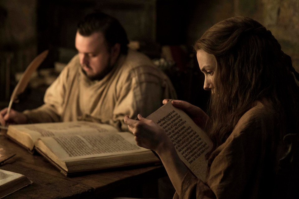 John Bradley with Hannah Murray as Gilly. Photo: HBO