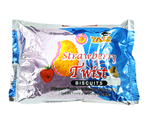 Twist Strawberry Cream Biscuit