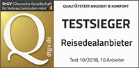 touriDat ist offizieller Testsieger der Top-Reisedealanbieter