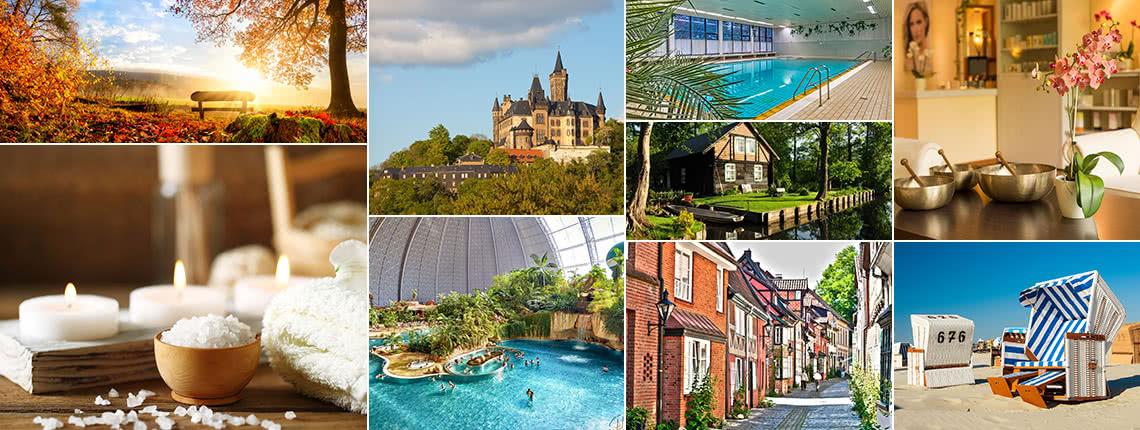 """Auswahlgutschein tD-Auswahlgutschein """"Wellnessurlaub"""" – 15 Wellness-Hotels in einem Gutschein"""