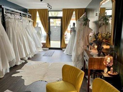 white closet bridal photo 2