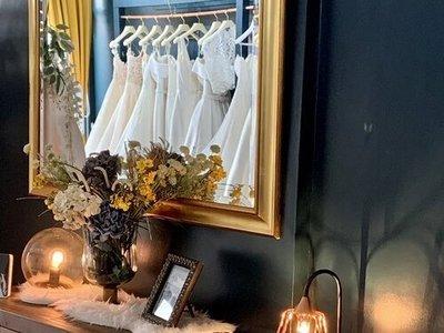 white closet bridal photo 1