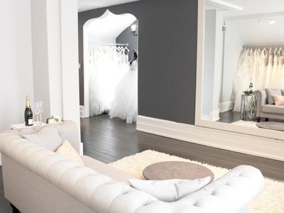 white satin bridal boutique photo 4