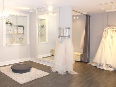white satin bridal boutique photo 3