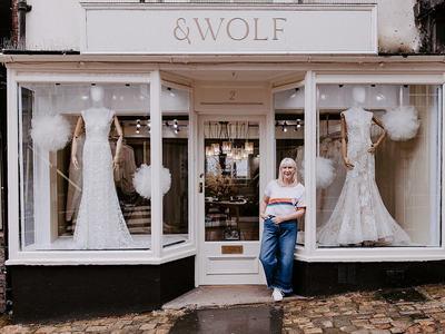 & wolf bridal photo 4