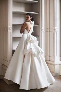 sculptural tiered gown dress photo 1