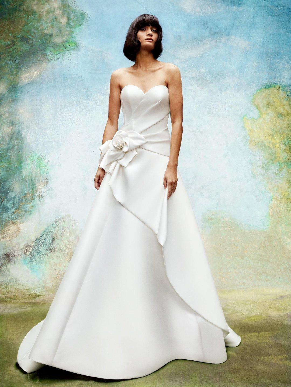 wild rose draped gown  dress photo