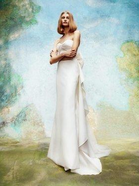cascading back volant bow dress  dress photo