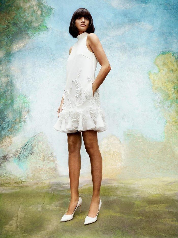 wisteria garden v back mini dress  dress photo