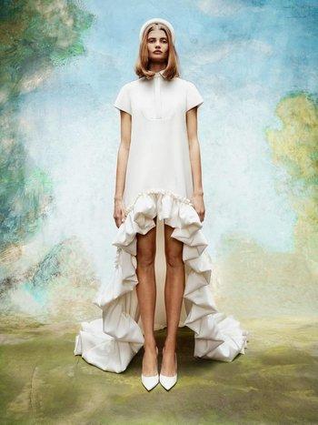 dramatic high low shirt dress  dress photo