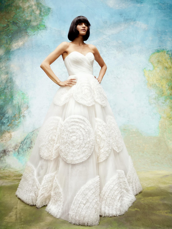 dreamy tulle swirls gown  dress photo