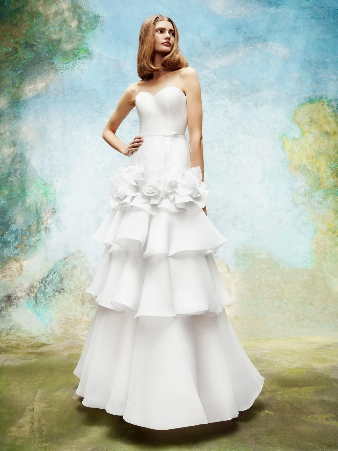 wild roses tiered gown  dress photo