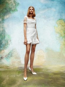 frosted lace mini dress  dress photo 1