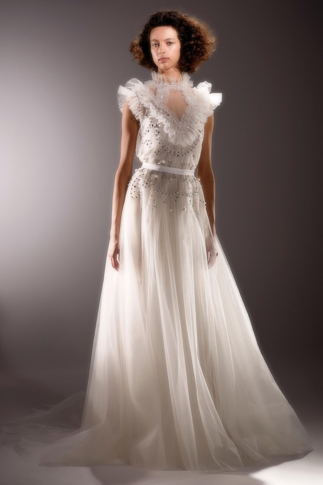 immaculate ethereal tulle gown  dress photo