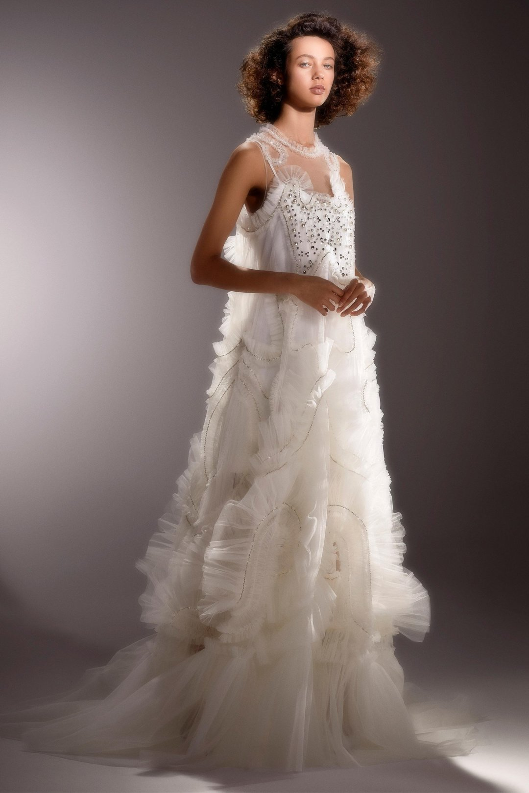 immaculate tulle swirl gown  dress photo