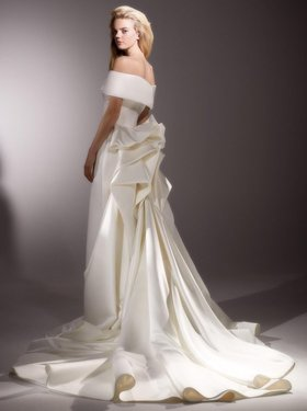 back drape gown  dress photo