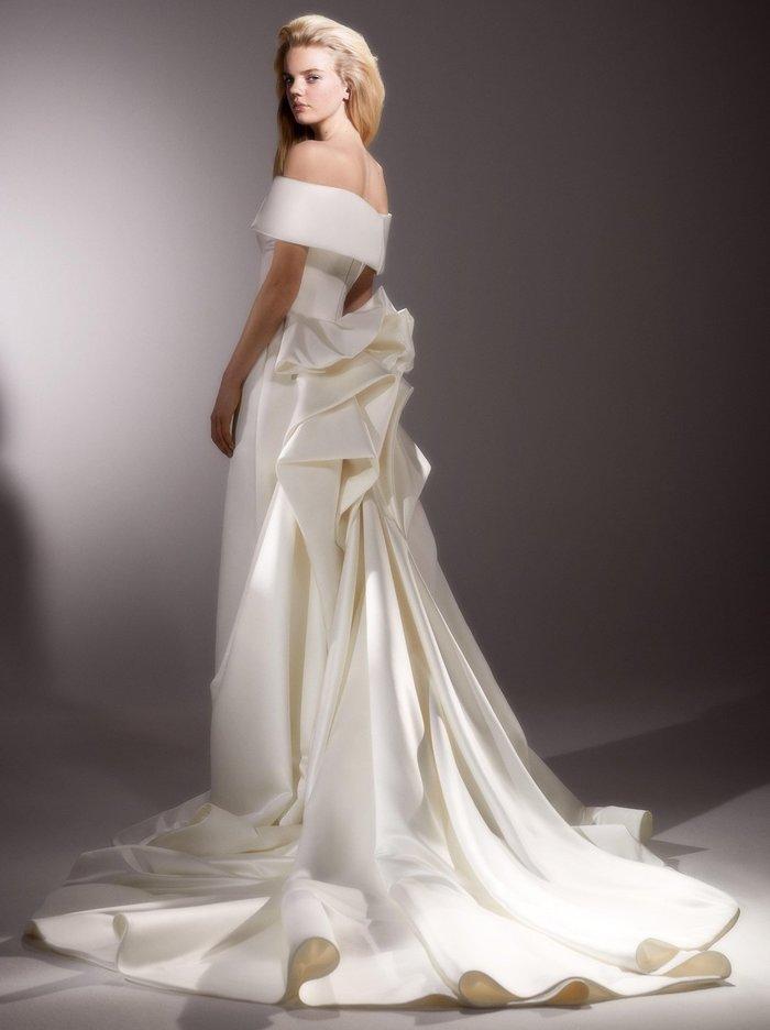 back drape gown  dress photo
