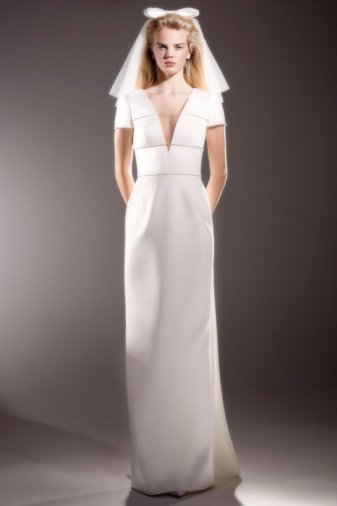 immaculate bow back column  dress photo