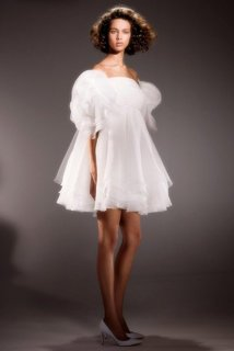 draped rose baby doll dress photo 1