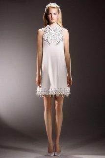 immaculate swirl neckline mini  dress photo 1