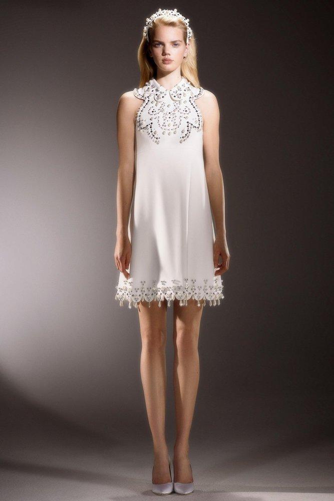 immaculate swirl neckline mini  dress photo