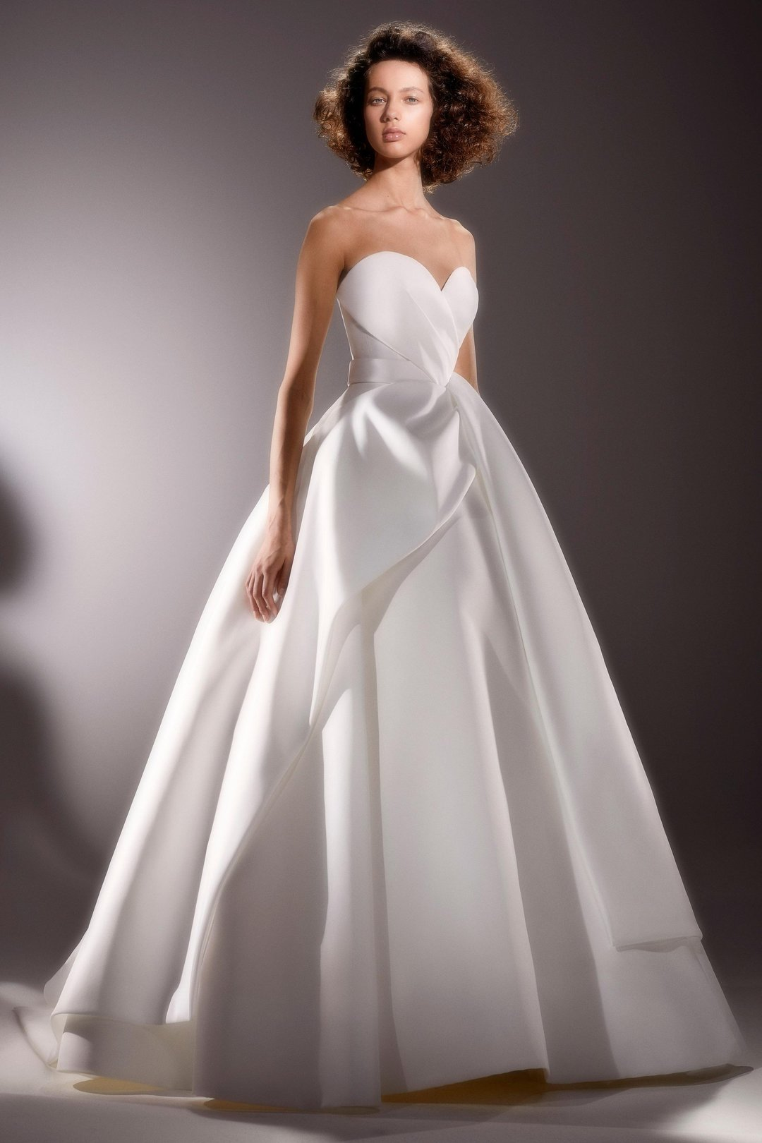 sculptural sash drape gown  dress photo
