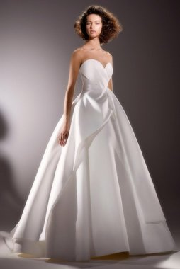 sculptural sash drape gown  dress photo