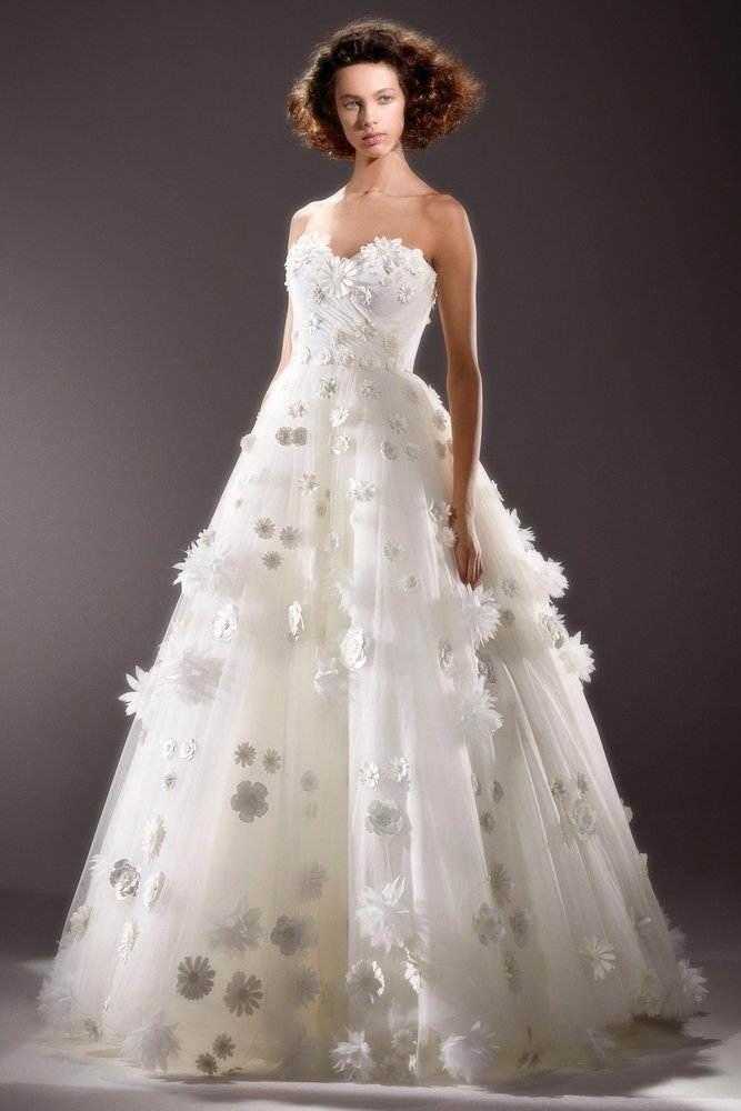 broderie anglais flower gown  dress photo