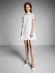 lace patchwork polo mini  dress photo 1