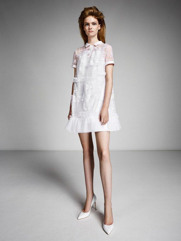 lace patchwork polo mini  dress photo