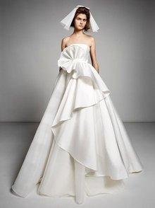 sculptural volant swirl gown  dress photo 1
