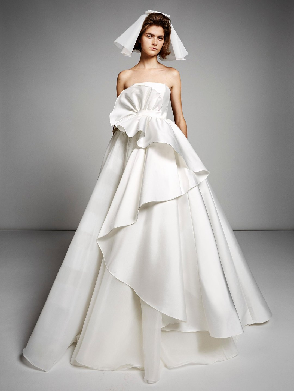sculptural volant swirl gown  dress photo
