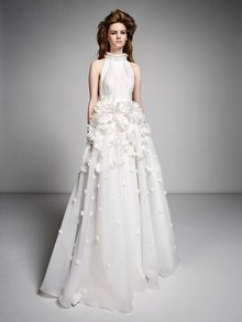 ethereal millefeuille flower gown  dress photo 1