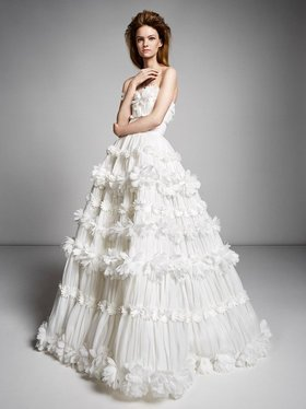 millefeuille flower gown  dress photo
