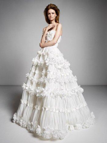millefeuille flower gown  dress photo