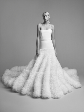 crystallised tulle fur gown  dress photo