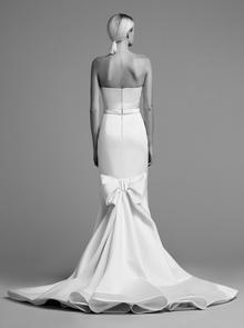 draped bow train gown  dress photo 2