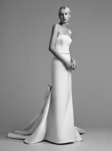 draped bow train gown  dress photo 1