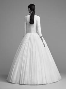 iced flower plissé gown  dress photo 2