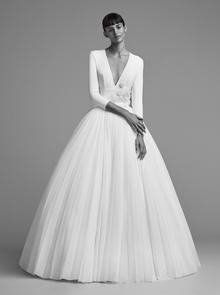 iced flower plissé gown  dress photo 1