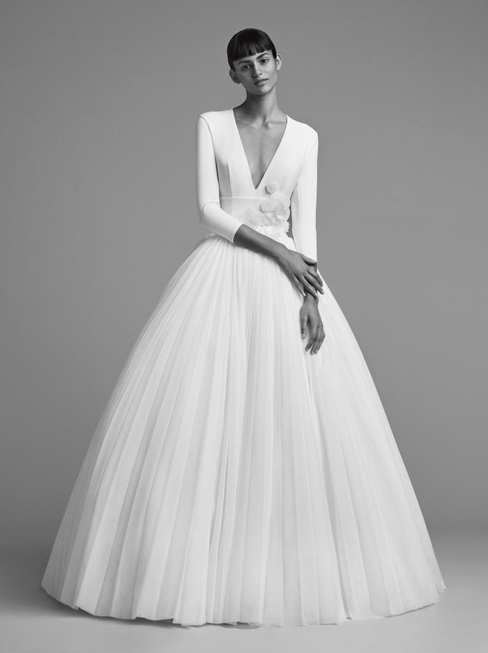 iced flower plissé gown  dress photo